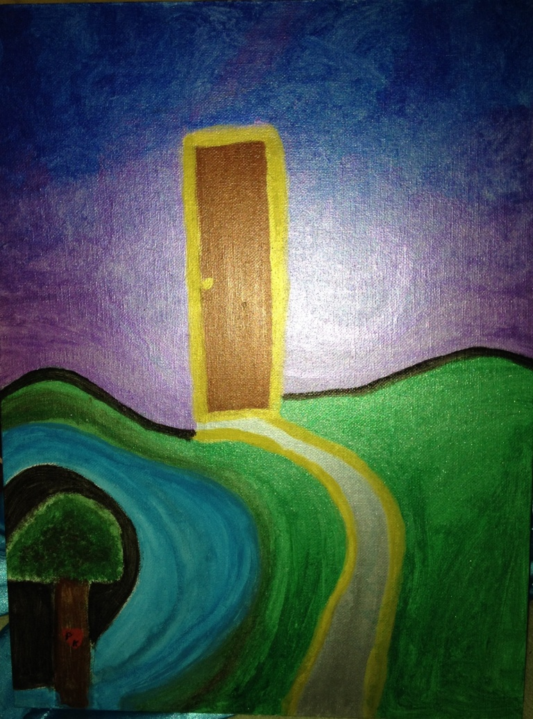 The Door of Dreams Abstract Painting