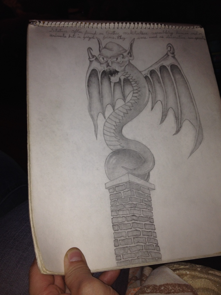 Gargoyle Drawing by Trevis Lawyer